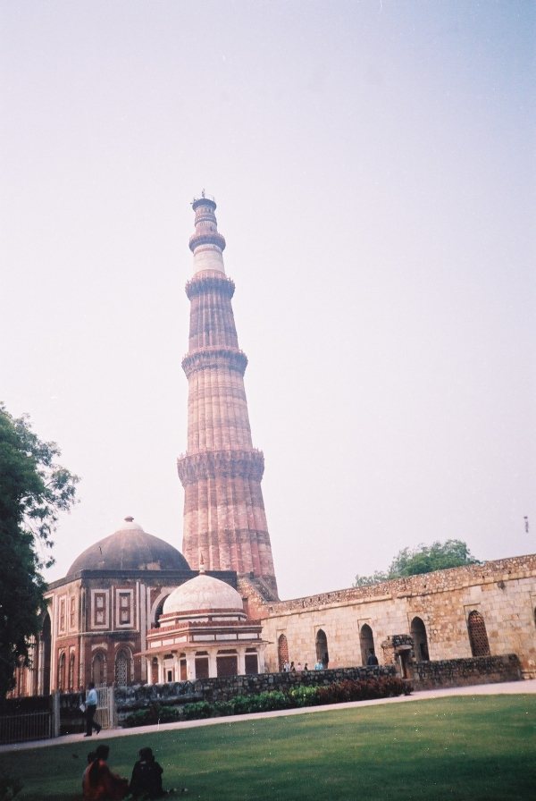 Alai Gate and Qutb Minar and Mosque.JPG