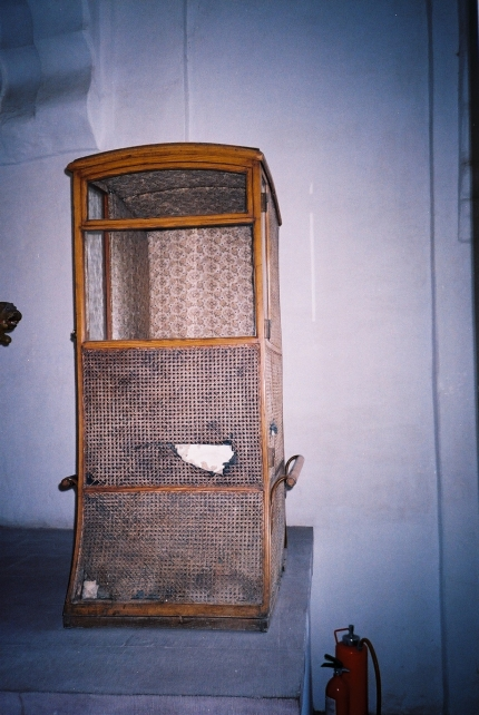 Grandmother's specially designed palanquin.JPG
