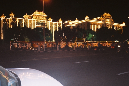 Post-Diwali lights in Jaipur.JPG