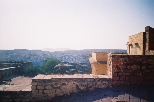 View of blue city from fort.JPG
